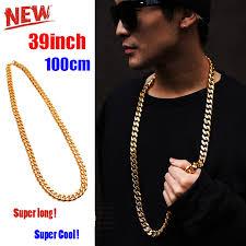 long gold link necklace images Punk 100cm long miami cuban link chain men 39 s hip hop necklace with jpg