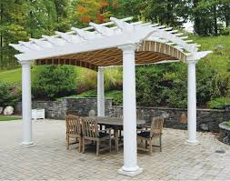Patio Attached To The House Patio U0026 Pergola Amazing Pvc Pergola This Time We Thought Of
