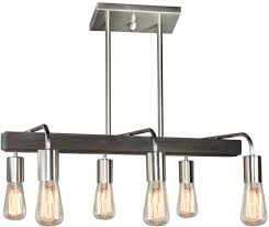 Linear Island Lighting by Artcraft Ac10456bn Jasper Park Modern Brushed Nickel Island