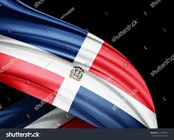 Dominican Republic Flag History Dominican Republic Flag Silk Copyspace Your Stock Illustration