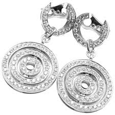white gold earrings bulgari astrale diamond drop white gold earrings for sale at