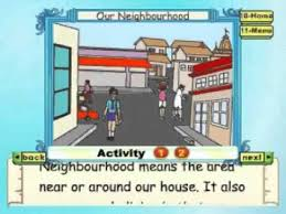 learn evs class 2 our neighbourhood animation youtube