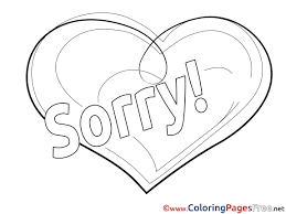 heart printable sorry coloring sheets