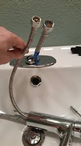 Water Connect  Supply Line To  Outer Diameter Faucet - Kitchen sink water supply lines