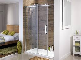 glass shower sliding doors bathroom frosted glass shower sliding doors with stainless holder