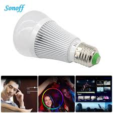 remote to turn off lights sonoff b1 smart wifi e27 led l rgb color light timer bulb