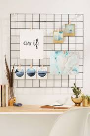 wire wall square grid walls diy memo board and room