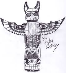 eagle totem pole drawing more information