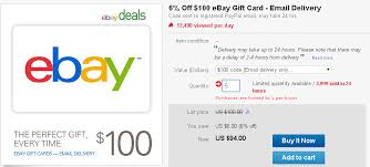 discount e gift cards ebay deals 6 ebay gift code ways to save money when shopping