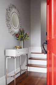 Slim Entry Table Slim Console Table Entry Transitional With Light Grey Walls