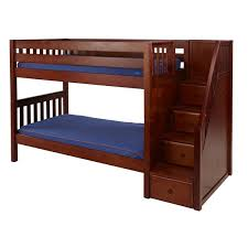 MaxtrixKids STACKER CS  Low Bunk Bed With Staircase On End - Low bunk beds