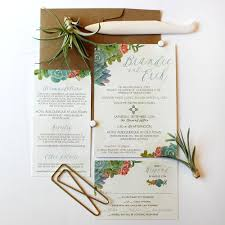 succulent wedding invitations southwest succulents boho wedding invitation package wedding
