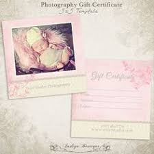 photography gift certificate 5x5 photoshop template wdgc003