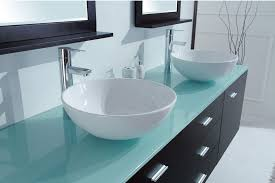 terrific glass bathroom vanity tops aqua 55 inch white finish