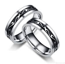 rings bands designs images Newest design titanium steel rings fashion stainless steel men 39 s jpg