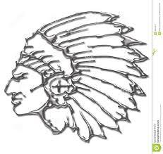 silver color native american chief stock illustration image