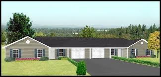 duplex plans with garage in middle j1031d g duplex plan with garage