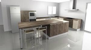 ilot cuisine avec table une prise ou deux sous la table ou îlot central forumconstruire