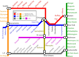 Boston Road Map by The Subway Roadmap Project