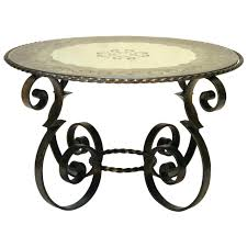 wrought iron coffee table with glass top glass top wrought iron coffee table art fer forge with side base
