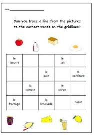 french clothes bingo game worksheetfrench activity french
