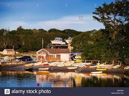 Cape Cod Ryders Cove Boat Yard Chatham Cape Cod Massachusetts Usa Stock