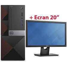 pack ordinateur de bureau pc de bureau dell vostro 3650 ecran 20 e2016h mytek