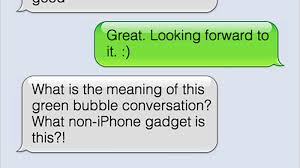 Iphone Text Memes - i m buying an iphone because i m ashamed of my green bubble