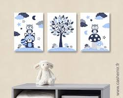 toile pour chambre bébé affiche poster lot de 3 illustrations pour chambre d enfant