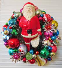 ho ho ho to you here is a fun christmas wreath made with vintage
