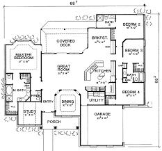 Split Bedroom Plan Plan W3079d Split Bedroom With Home Office E Architectural Design