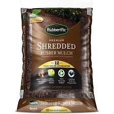 shop rubberific 0 8 cu ft brown rubber mulch at lowes com