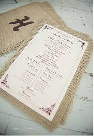 burlap wedding programs printable wedding ceremony program vintage printable program for