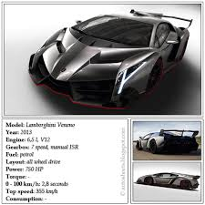 lamborghini veneno specification auto data sheets lamborghini veneno 2013