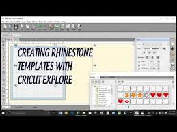 creating rhinestone template designs with cricut explore youtube