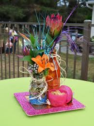 luau table centerpieces hawaiian party centerpieces 1000 ideas about luau centerpieces on