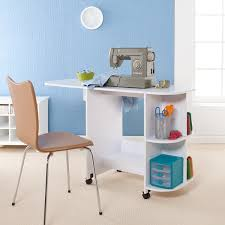 fold away sewing machine table harper blvd white folding mobile sewing machine table free