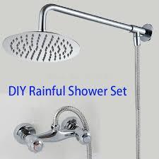 Online Get Cheap German Faucet Aliexpress Com Alibaba Group Bathroom Rainfall Shower Mixer Set Complete Including 8