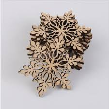 aliexpress buy ornaments supplies wooden snowflake