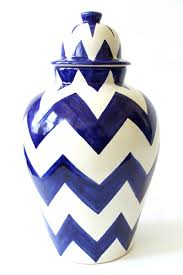 chevron ginger jars