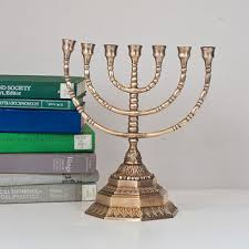 menorah 7 candles best vintage brass candelabra products on wanelo
