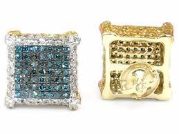 men diamond earrings square diamond earrings for men wasabifashioncult
