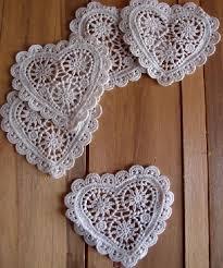 heart doily crochet lace heart doily