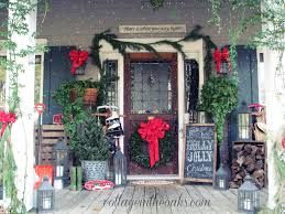 Christmas Outdoor Decor by Christmas Front Porch 2012 Cottage Front Porches Front Porches