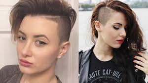 Short Shaved Hairstyles For Girls by Sidecut Haircut Side Shave Hair Side Cut Hairstyles For Women