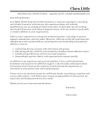 Cover Resume Letter Examples by Best Drug And Alcohol Counselor Cover Letter Examples Livecareer