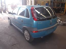 holden barina rear bumper xc hatch reflectors on top blue 01 05
