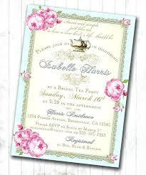 bridal tea party invitations bridal tea party invitations mounttaishan info