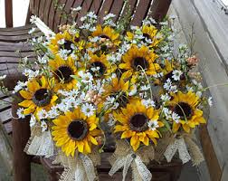 sunflower centerpieces sunflower wedding etsy
