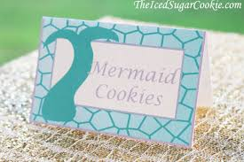 diy mermaid birthday party printable food label tent cards digital
